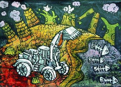 厦门市中学生环保公益绘画比赛一等奖作品选登图片